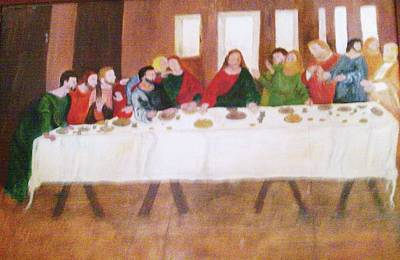 Painting - Last Supper by Helen Vanterpool