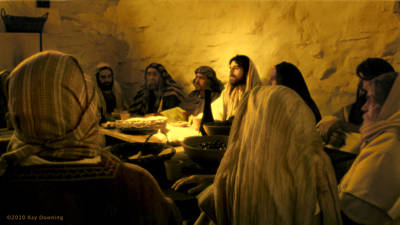 Jesus Face Digital Art - Last Supper by Ray Downing