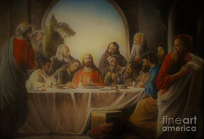 Oil Painting - Last Supper by Sorin Apostolescu