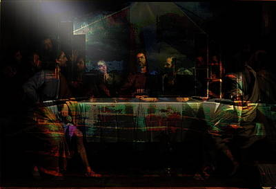 Last Supper...after Philippe De Champaigne Art Print by Paul Sutcliffe