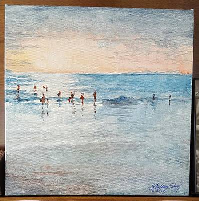 Painting - Last Swim by J Anthony Shuff
