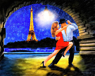 Eiffel Tower Mixed Media - Last Tango In Paris by Mark Tisdale