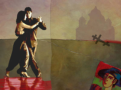 Bandoneon Wall Art - Digital Art - Last Tango by Tito Victoriano