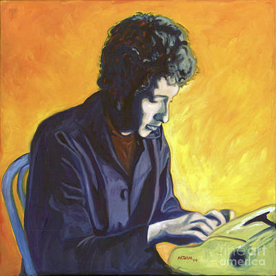 Bob Dylan Painting - Last Thoughts On Woody Guthrie by Natasha Laurence