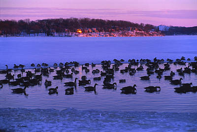 Winter Photograph - Last To Leave - Lake Geneva Wisconsin by Bruce Thompson