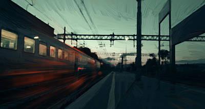 Emotive Digital Art - Last Train by Afterdarkness