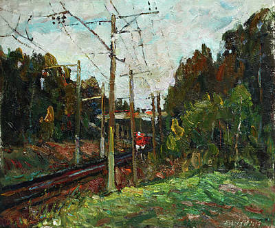 Painting - Last Train by Juliya Zhukova