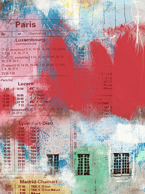 Mixed Media - Last Train To Paris- Art By Linda Woods by Linda Woods