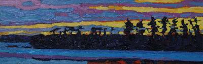Painting - Last Winter Sunset by Phil Chadwick