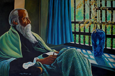 Tagore Painting - Last Year Of His Life . by Abhijit Banerjee