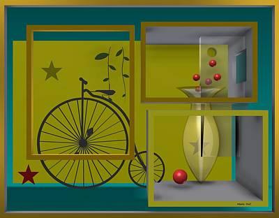 Vases Digital Art - Last Years In Yellow by Alberto  RuiZ