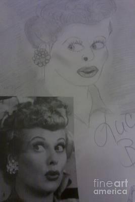 Late Actress Lucille Ball Art Print