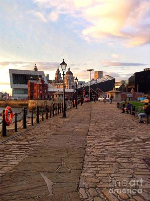 Photograph - Late Afternoon At Albert Dock by Joan-Violet Stretch