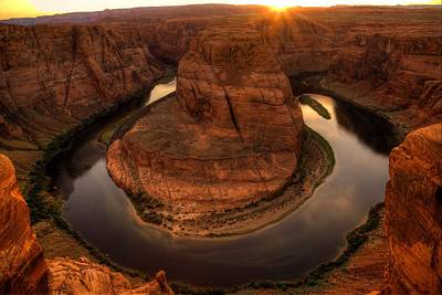 Photograph - Late Afternoon At Horsehoe Bend - 1  by Hany J