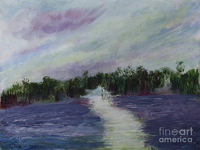 Painting - Late Afternoon At Loxahatchee by Donna Walsh
