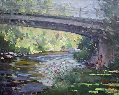 Georgetown Wall Art - Painting - Late Afternoon At Mcnab Park by Ylli Haruni
