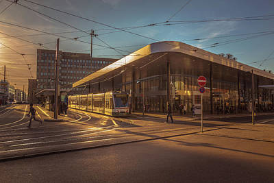 Tram Photograph - Late Afternoon At The Transport Hub by Chris Fletcher