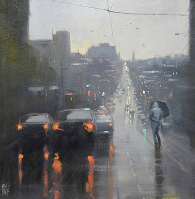 Wall Art - Painting - Late Afternoon - Burke Street by Mike Barr