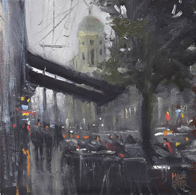 Painting - Late Afternoon - Chapel St by Mike Barr
