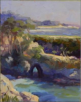 China Cove Painting - Late Afternoon China Cove by Maryanne  Jacobsen