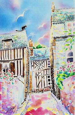 Painting - Late Afternoon In Honfleur by Hisayo Ohta