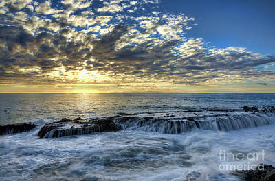 Art Print featuring the photograph Late Afternoon In Laguna Beach by Eddie Yerkish