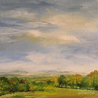 Painting -  Late Afternoon In Vermont  by Laurie Rohner