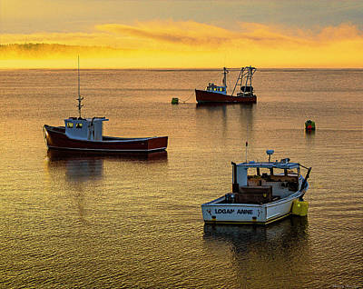 Photograph - Late Afternoon Mooring Down East by Marty Saccone