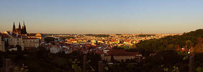 Photograph - Late Afternoon Prague Panorama by C H Apperson