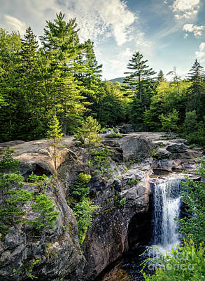 Photograph - Late Afternoon, Screw Auger Falls, Newry, Maine #10100-10102 by John Bald