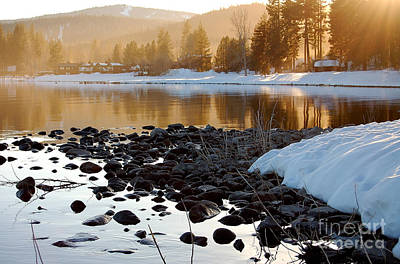 Late Aternoon  Lake Tahoe Art Print by Heather S Huston
