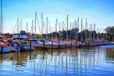 Photograph - Mid August Day At The Marina. by Gerald Salamone