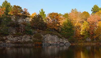 Photograph - Late Autumn Afternoon In Muskoka by David Porteus