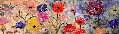Digital Art - Late Autumn Floral Mum Surprise By Lisa Kaiser by Lisa Kaiser