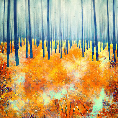 Abstract Digital Art - Late Autumn by Katherine Smit