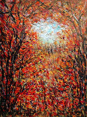 Late Autumn Art Print by Natalie Holland