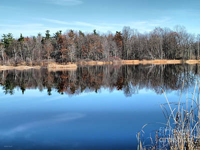 Late Autumn Reflections Art Print