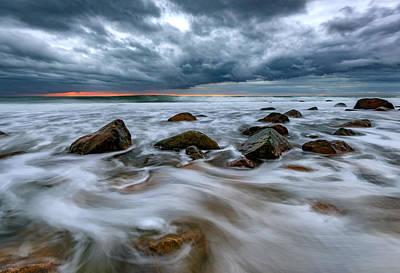 Photograph - Late Autumn Storm At Montauk Point by Rick Berk