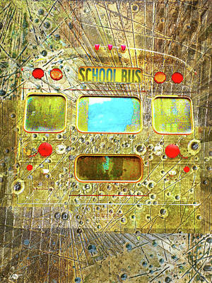Mixed Media - Late Bus by Tony Rubino