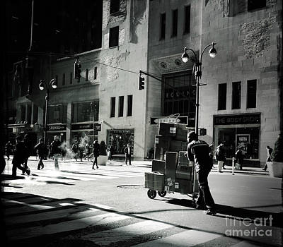 Photograph - Late Day Street Scene - City Beat 2 by Miriam Danar