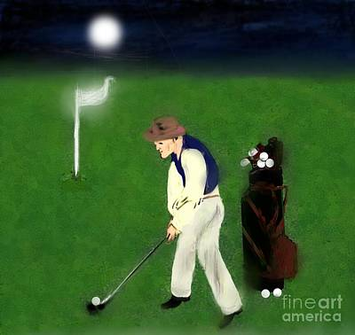 Painting - Late Evening Golf by Belinda Threeths