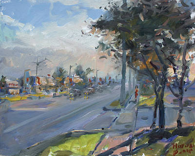 Georgetown Wall Art - Painting - Late Evening In Guelph Street Georgetown by Ylli Haruni