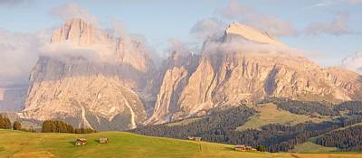 Photograph - Late Evening Light On The Alpe Di Suisi by Stephen Taylor