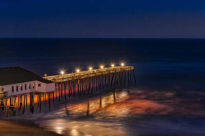 Photograph - Late Evening Sunset On Kitty Hawk Pier by Brenda Jacobs