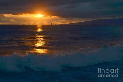 Photograph - Late Evening Sunset Waikiki Hawaii - 16 by Mary Deal