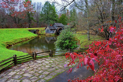 Photograph - Late Fall At Mabry Mill by Steve Hurt