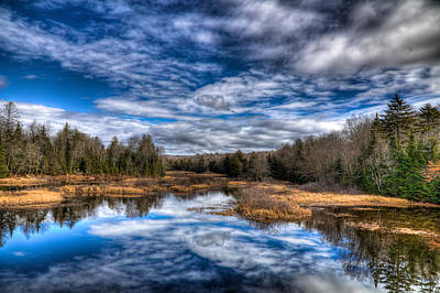 Photograph - Late Fall At The Green Bridge by David Patterson