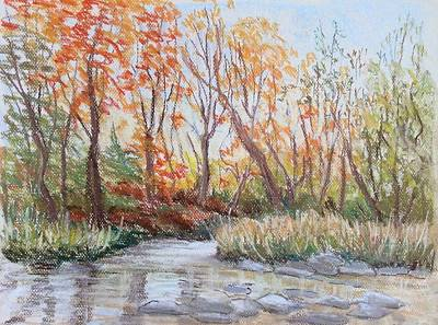 Painting - Late Fall by Liliane Fournier