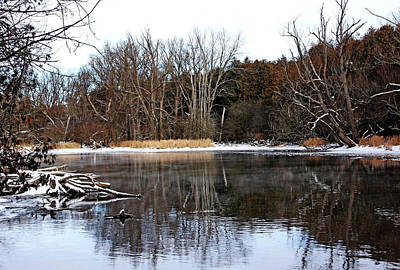 Photograph - Late Fall On The River I by Debbie Oppermann