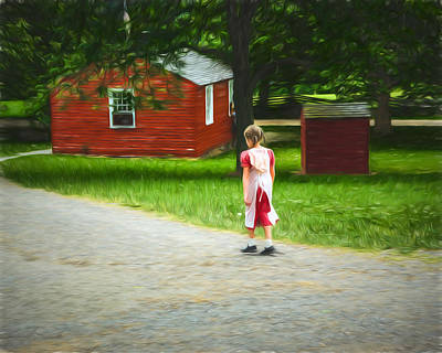 Photograph - Late For School by Chris Bordeleau